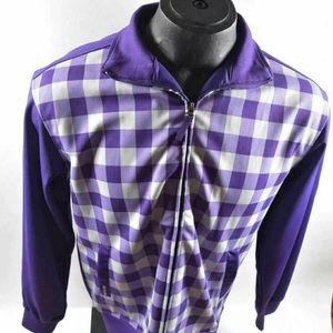 Purple Checked Smoke Rise Long Sleeve Shirt Size M